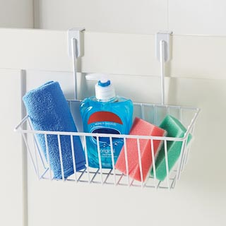 Addis Overdoor Storage Basket - White