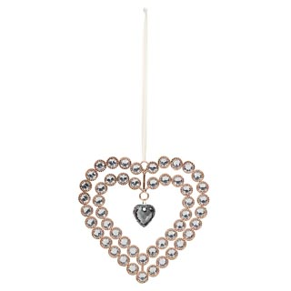 Crystal Heart Plaque - Gold