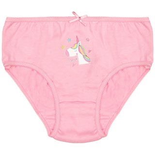 Younger Girls Unicorn Briefs 7pk - White