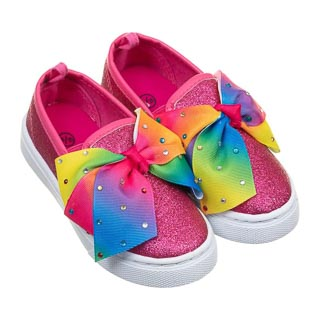Younger Girl Bow Canvas Shoes - Multi Colour