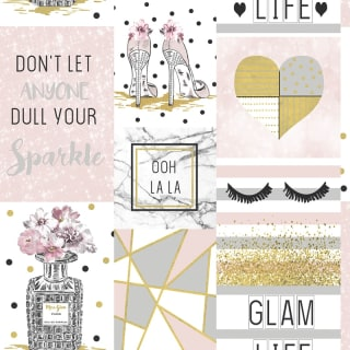 Glam Life Wallpaper - Pink