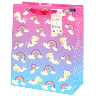 Unicorn Gift Bag - Rainbows & Unicorns