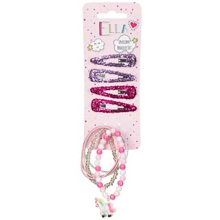 Ella Unicorn Hair Accessories 6pk - Bracelets