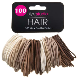 Style Studio Metal-Free Hair Elastics 100pk - Blonde/Brunette