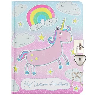 Lockable Secrets Book - Unicorns
