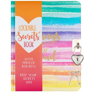Lockable Secrets Book - Watercolour