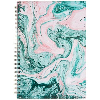 A4 Hardback Notebook - Green Swirl