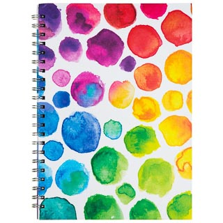 A4 Hardback Notebook - Watercolour Dots