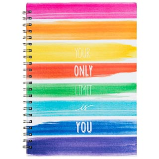 A4 Hardback Notebook - Watercolour Stripes