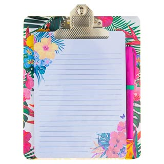 Clipboard & Notepad - Floral