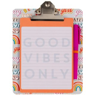 Clipboard & Notepad - Good Vibes Only