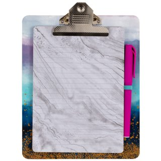 Clipboard & Notepad - Marble