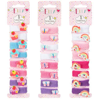 Ella Hair Ponios 8pk - Rainbow
