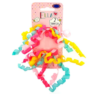 Ella Hair Ribbon Clips 2pk - Pastel