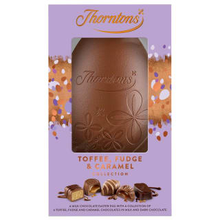 Thorntons Toffee, Fudge & Caramel Egg 208g
