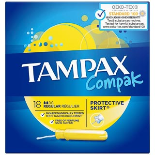 Tampax Compak Regular 18pk
