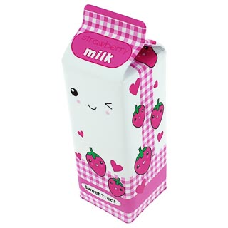 Milk Carton Pencil Case - Strawberry Milk