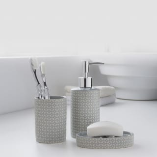 Moroccan Bathroom Set 3pc - Grey