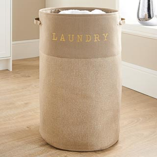 Large Foldable Laundry Hamper - Natural