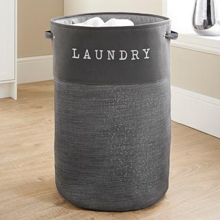 Large Foldable Laundry Hamper - Charcoal