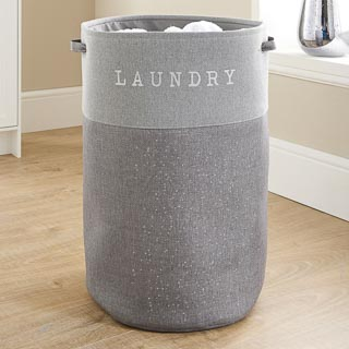 Large Foldable Laundry Hamper - Light Grey