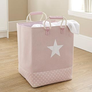 Soft Laundry Bag with Rope Handle - Pink