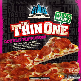 Chicago Town The Thin One Double Pepperoni Pizza 305g