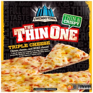 Chicago Town The Thin One Triple Cheese Pizza 305g
