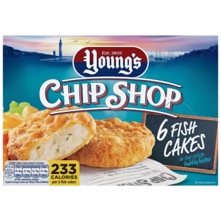 Young's Chip Shop 6 Fish Cakes in Batter 300g