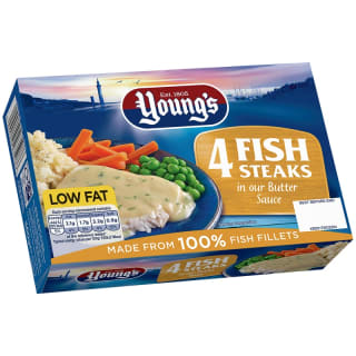 Young's 4 Fish Steaks in Butter Sauce 560g