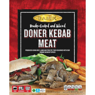 Babek Pre-Cooked & Sliced Doner Kebab Meat 600g