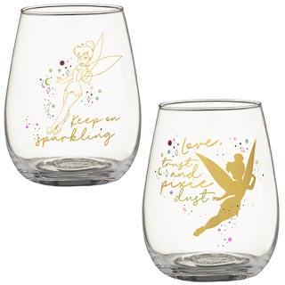 Disney Tumbler Glass Set 2pk - Tinkerbell