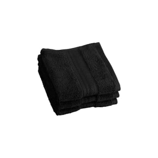 Signature Face Cloth 3pk - Black