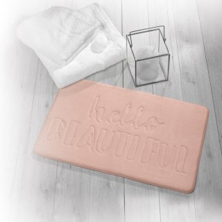 Beldray Slogan Bath Mat - Hello Beautiful