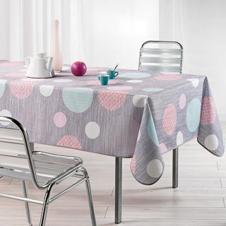 Home & Co Printed Tablecloth 132 x 230cm - Textured Circles