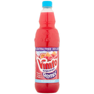 Vimto Remix Raspberry, Orange & Passionfruit 725ml + 35% Free