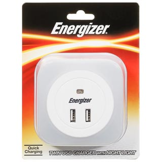 Energizer Twin USB Charger & Night Light