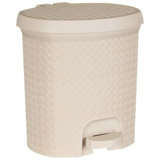 Knit Effect Pedal Bin - Natural