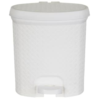 Knit Effect Pedal Bin - White