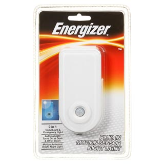 Energizer Plug-In Motion Sensor Night Light
