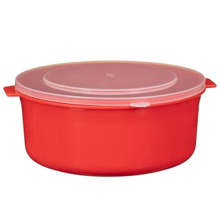 Microwaveable Bowls with Lids 3pk - Red