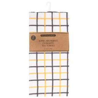 Super Absorbent Oversized Tea Towels 2pk - Ochre
