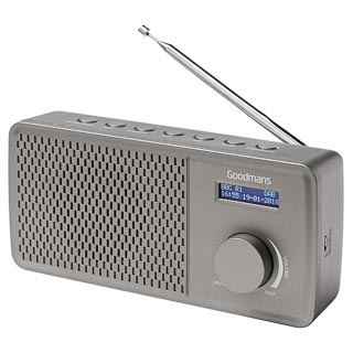 Goodmans DAB Radio - Grey