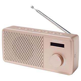 Goodmans DAB Radio - Rose Gold