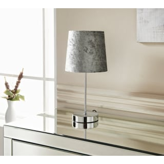 Glass Ball Table Lamp With Velvet Look Shade Charcoal Home B Amp M