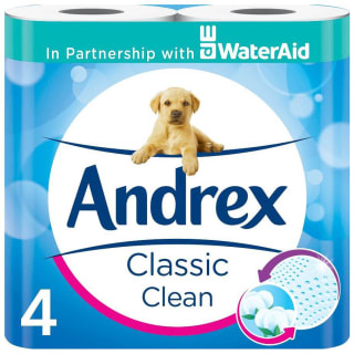 Andrex Classic Clean Toilet Tissue 4pk