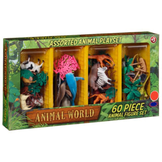 Assorted Animals Play Set 60pk
