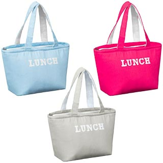 Insulated Canvas Lunch Bag - Aqua
