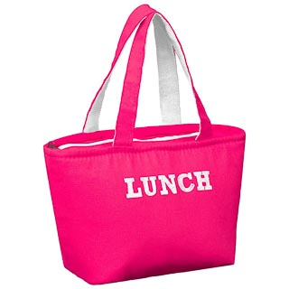 Insulated Canvas Lunch Bag - Pink