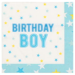 Kids Party Napkins 30pk - Birthday Boy